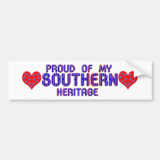 Proud Of My Southern Heritage Bumper Stickers