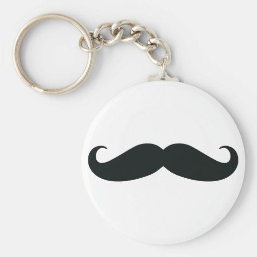 Proud of my Stache....Mustache Basic Round Button Keychain