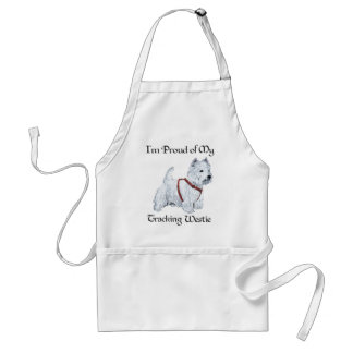 Proud of My Tracking Westie Adult Apron