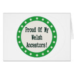 Proud Of My Welsh Ancestors Greeting Cards