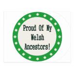 Proud Of My Welsh Ancestors Postcards