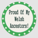 Proud Of My Welsh Ancestors Sticker