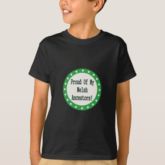 Proud Of My Welsh Ancestors T-Shirt