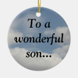 Proud of my wise son (Proverbs 23:15-16) Ornament