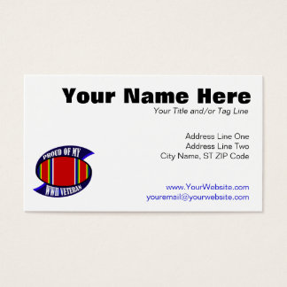 Proud Of My WWII Vet Business Card