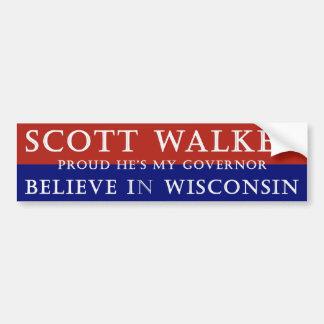 Proud of Scott Walker Car Bumper Sticker