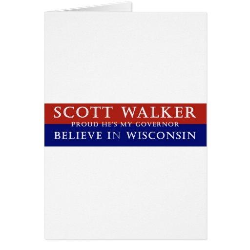Proud of Scott Walker Greeting Card