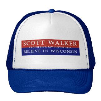Proud of Scott Walker Mesh Hats