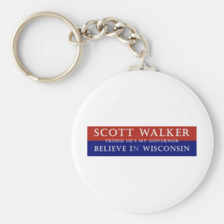 Proud of Scott Walker Key Chains