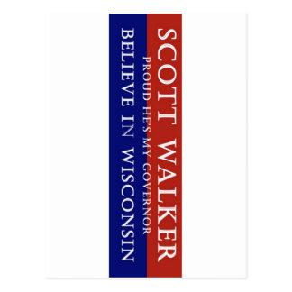 Proud of Scott Walker Postcard