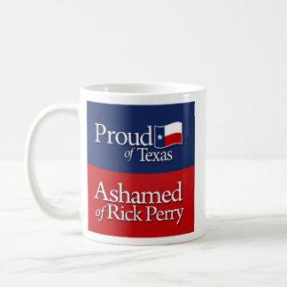 Proud of Texas, Ashamed of Rick Perry Classic White Coffee Mug