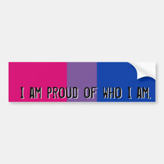 Proud of who I am - Bisexual flag bumper sticker Car Bumper Sticker