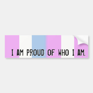 Proud of who I am - Intersex flag bumper sticker