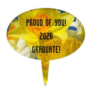Proud of You Graduate! Add Graduating Class Name Cake Picks