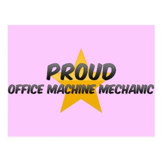 Proud Office Machine Mechanic Postcard