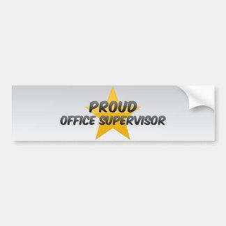 Proud Office Supervisor Car Bumper Sticker