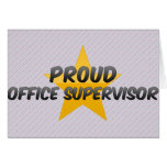 Proud Office Supervisor Greeting Card