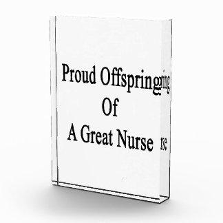 Proud Offspring Of A Great Nurse Acrylic Award