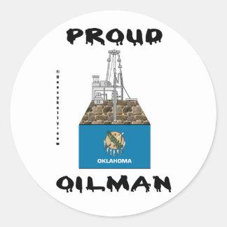 Proud Oilman,Oklahoma,Sticker,Oil Fields,Oil,Rig