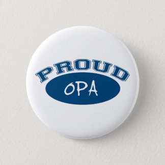 Proud Opa (Blue) Pinback Button