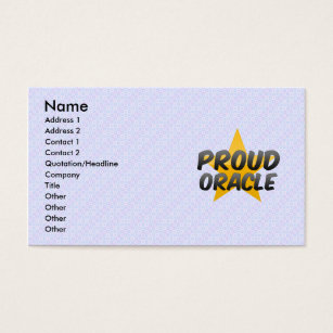 Oracle business cards templates zazzle proud oracle business card colourmoves Choice Image