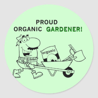 Proud Organic Gardener Tshirts and Gifts Classic Round Sticker