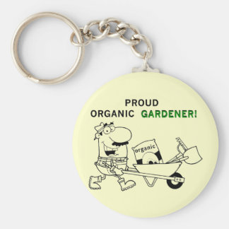 Proud Organic Gardener Tshirts and Gifts Keychain