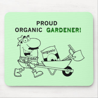 Proud Organic Gardener Tshirts and Gifts Mouse Pad