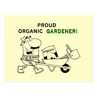 Proud Organic Gardener Tshirts and Gifts Post Card