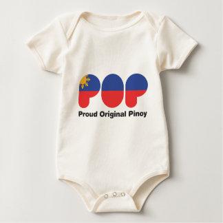 PROUD ORIGINAL PINOY wht  (TM) Baby Bodysuit