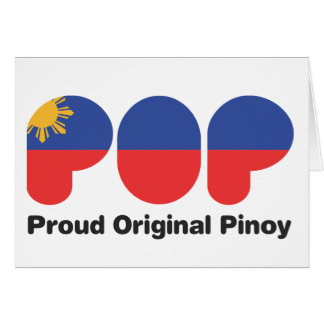 PROUD ORIGINAL PINOY wht  (TM) Card