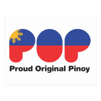 PROUD ORIGINAL PINOY wht  (TM) Postcard