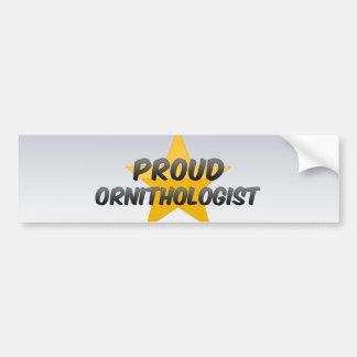 Proud Ornithologist Car Bumper Sticker