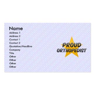 Proud Orthopedist Business Card