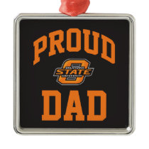 Proud OSU Dad Metal Ornament