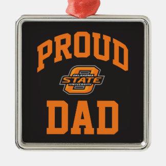 Proud OSU Dad Metal Ornament