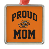 Proud OSU Mom Metal Ornament