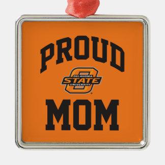 Proud OSU Mom Metal Ornament