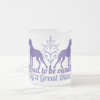Proud owned by a Great Dane purple Taza