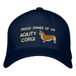 Proud Owner Agility Corgi Embroidered Hat