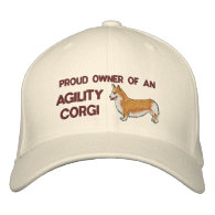 Proud Owner Agility Corgi Embroidered Hat Embroidered Hats