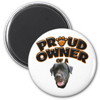 Proud Owner of a Black Lab 2 Inch Round Magnet