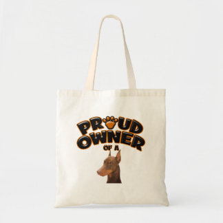Proud Owner of a Doberman Tote Bags
