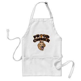 Proud Owner of a Golden Retriever Adult Apron