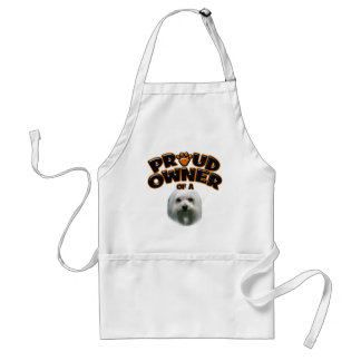 Proud Owner of a Maltese Adult Apron