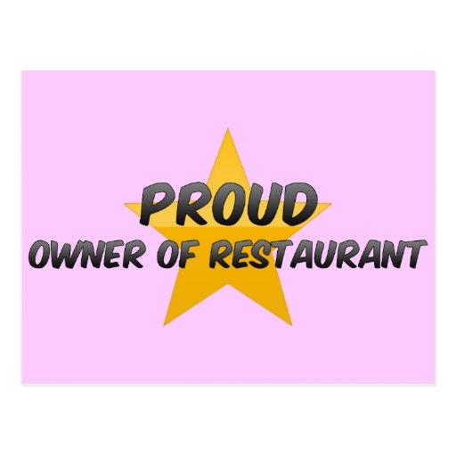 Proud Owner Of Restaurant Postcard
