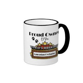 Proud Owner World's Greatest Caucasian Ovcharka Ringer Mug