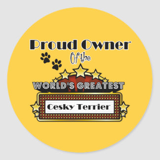 Proud Owner World's Greatest Cesky Terrier Classic Round Sticker