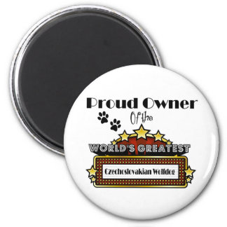 Proud Owner World's Greatest Czechoslovakian Wolfd 2 Inch Round Magnet