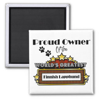 Proud Owner World's Greatest Finnish Lapphund 2 Inch Square Magnet